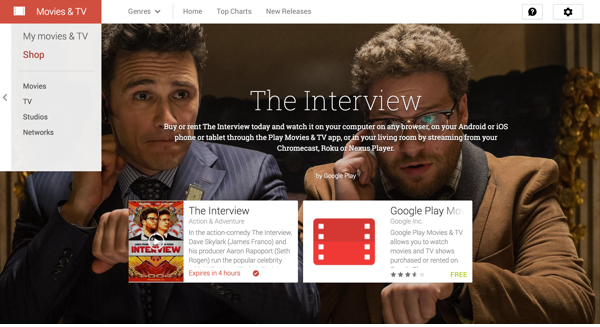 Screenshot of 'The Interview' on Google Play.